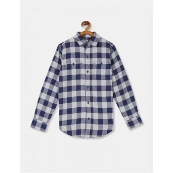 GAP Boys Grey Checkered Shirt