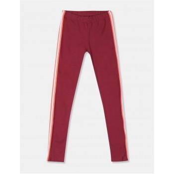 GAP Girls Red Solid Leggings