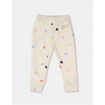 Gap Girls Beige Printed Jogger