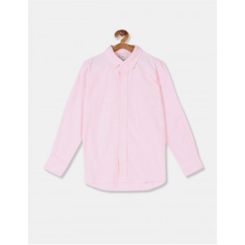 GAP Boys Pink Solid Shirt