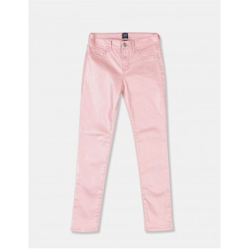 GAP Girls Pink Solid Jeggings