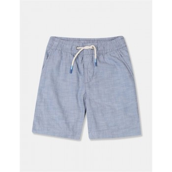 GAP Boys Blue Solid Shorts