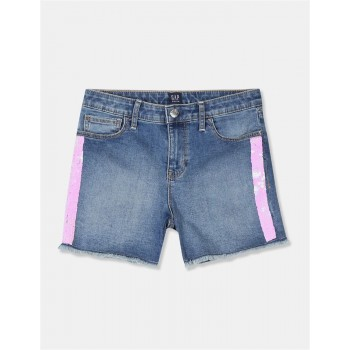 GAP Girls Blue Embellished Shorts