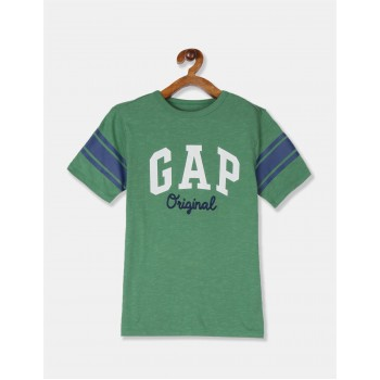 GAP Boys Green Applique T-Shirt