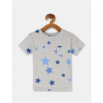GAP Boys Grey Printed T-Shirt