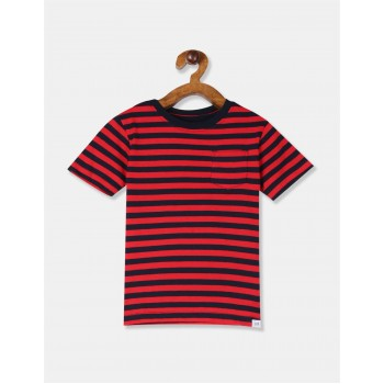GAP Boys Red Striped T-Shirt
