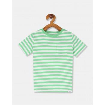 GAP Boys Green Striped T-Shirt