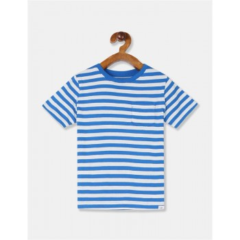 GAP Boys Blue Striped T-Shirt