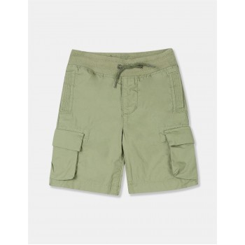 GAP Boys Green Solid Shorts