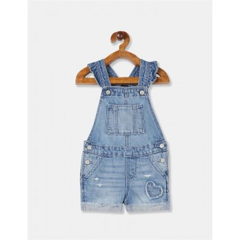 GAP Girls Blue Solid Dungarees