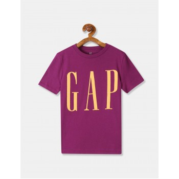 GAP Boys Purple Printed T-Shirt