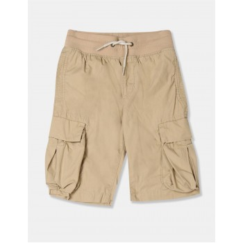 GAP Boys Beige Solid Shorts