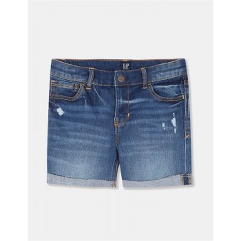 GAP Girls Blue Solid Shorts
