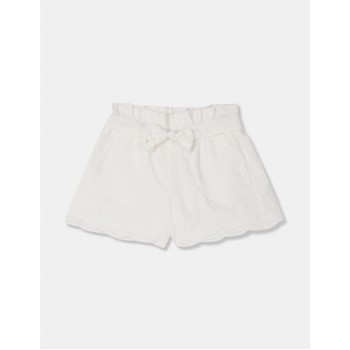 GAP Girls White Embroidered Shorts