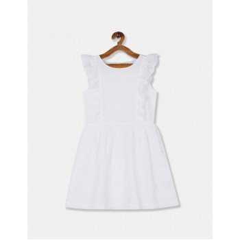 GAP Girls White Embroidered Dress