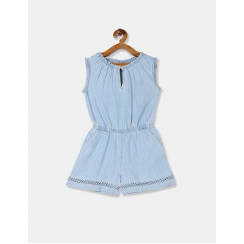 Gap Girls Blue Solid Romper