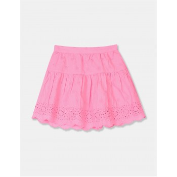 GAP Girls Pink Embroidered Skirt
