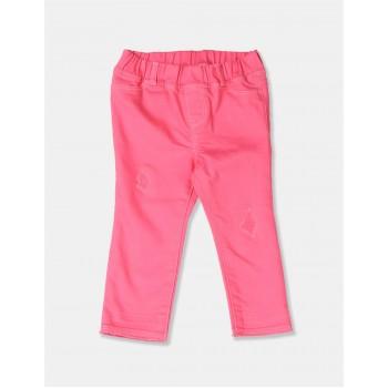 GAP Girls Pink Solid Jeggings