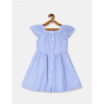 GAP Girls Blue Striped Dress