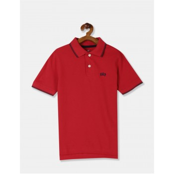 GAP Boys Red Solid T-Shirt