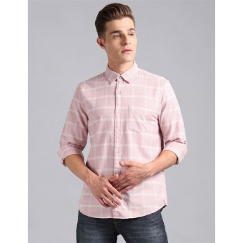 Gap Men Casual Wear Pink Shirt