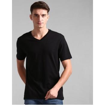 Gap Men Casual Wear Black T-Shirt