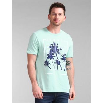 Gap Men Casual Wear Blue T-Shirt