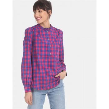 Gap Women Casual Wear Multicolor Shirt Style Top