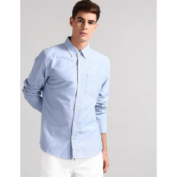 Gap Men Casual Wear Blue Shirt