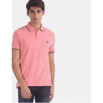 Gap Men Casual Wear Pink T-Shirt