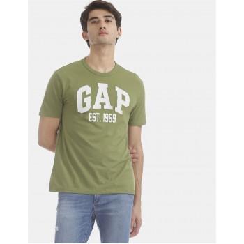 Gap Men Casual Wear Green T-Shirt