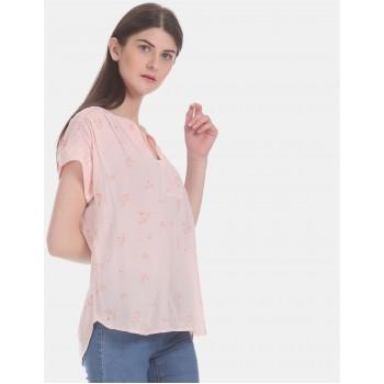 Gap Women Casual Wear Pink Top