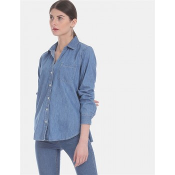 Gap Women's Casual Wear Denim Shirt