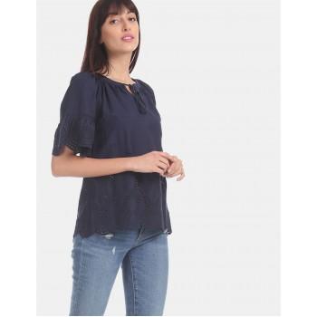 Gap Women Casual Wear Navy Blue Top