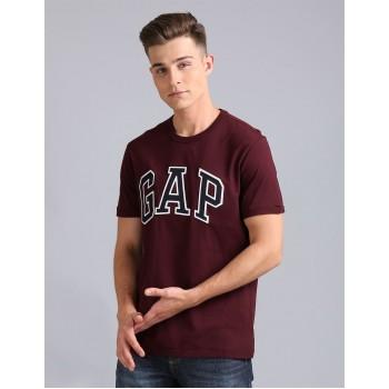 Gap Men Casual Wear Brown T-Shirt
