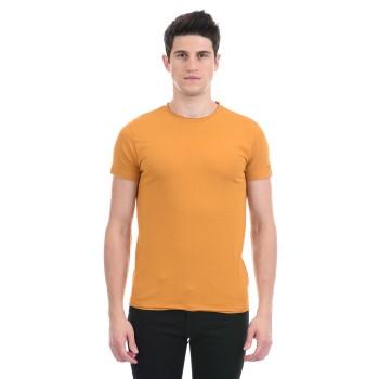 Gas Jeans Men Casual Wear Orange T-Shirt