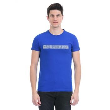 Gas Jeans Men Casual Wear Blue T-Shirt