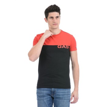 Gas Jeans Men Casual Wear Black T-Shirt
