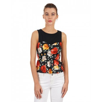 Guess Women Floral Print Casual Wear Top