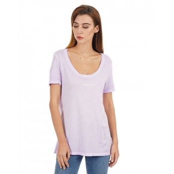 Guess Women Solid Casual Wear T-Shirt