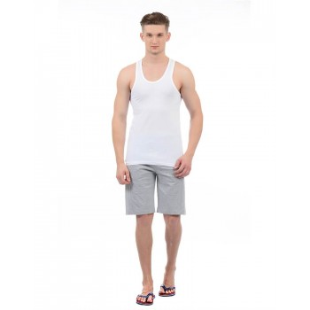 Hanes Men White Casual Wear Vest