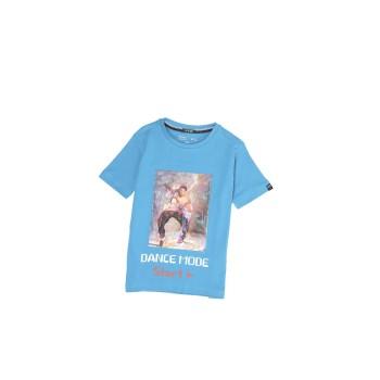 Indian Terrain  Boys Casual Wear Blue T-Shirt