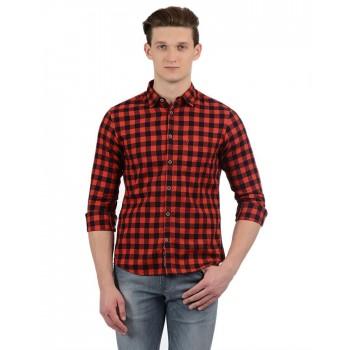 Indian Terrain Casual Wear Checkered Men Shirt