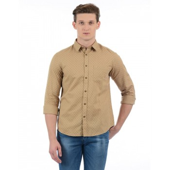 Indian Terrain Casual Wear Self Design Men Shirt