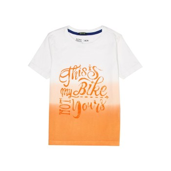 Indian Terrain Kids Boys Casual Wear Orange T-Shirt