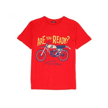 Indian Terrain Kids Boys Casual Wear Red T-Shirt