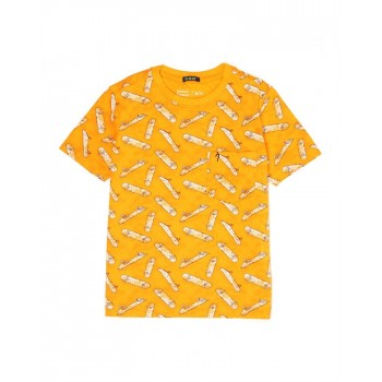 Indian Terrain Kids Boys Casual Wear Yellow T-Shirt