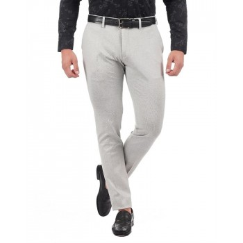Indian Terrain Men Casual Wear Textured Trousers