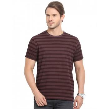 Indian Terrain Men Striped Casual Wear T-Shirt