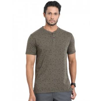 Indian Terrain Men Printed Casual Wear T-Shirt